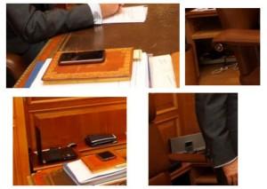 Detalles del despacho de Felipe VI.