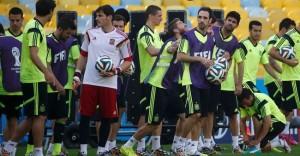 La selección española prepara su partido ante Chile. / Foto: ww.sefutbol.com.
