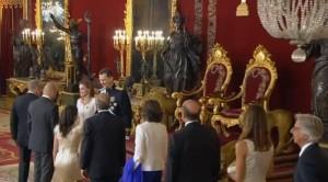 Recepción en el Palacio Real.