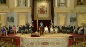 Sesión extraordinaria de las Cortes.