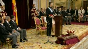 El Rey en un instante de su discurso.