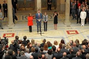 Representantes de instituciones solidarias en el Palacio Real. / Foto: Twitter Casa Real.