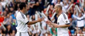 Figo y Zidane disputarán el encuentro benéfico. / Foto: www.realmadrid.com