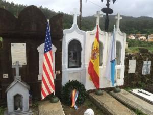 Cementerio de Outes en el que está enterrado Manuel Otero.