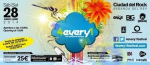 El Festival se celebra en Arganda del Rey.  / Foto: 4every1festival.com.