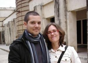 Jonás y Ángela, los autores del cómic '7 vidas'.
