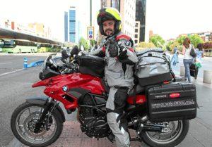 El motorista recorrerá el norte de España en verano y el sur en invierno.