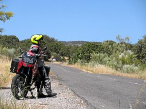 Jorge pretende hacer 100.000 kilómetros en seis meses.