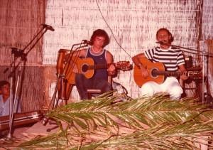 Maldonado con Manolo Marvizón en una actuación a principios de los 80.