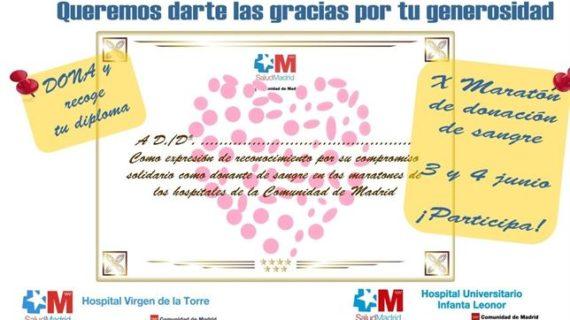 Dos hospitales de Vallecas abren una 'maratón' de donación de sangre