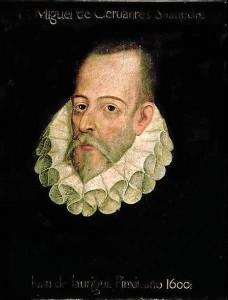 Retrato de Miguel de Cervantes.