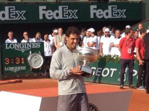 El español ha sido el único capaz de ganar nueve veces el Grand Slam francés. / Foto: Roland Garros.