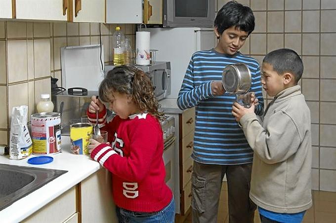 Los pequeños podrán tener una dieta equilibrada. / Foto: Obra Social La Caixa.