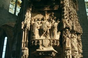 Retablo de alabastro de la Basílica de Santa María d'Empúries.