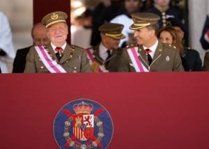 El Rey Don Juan Carlos junto al Príncipe Felipe.
