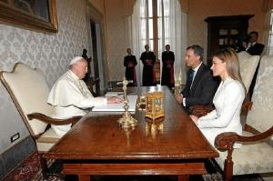 El Papa ha recibido a los Reyes de España en el Vaticano. / Foto: Casa Real.