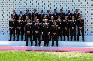 Miembros de la Selección Española de Fútbol.