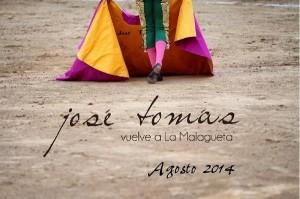 José Tomás toreará el 23 de agosto.