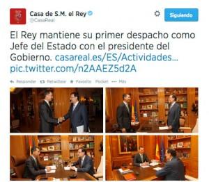 Primer despacho con Mariano Rajoy.