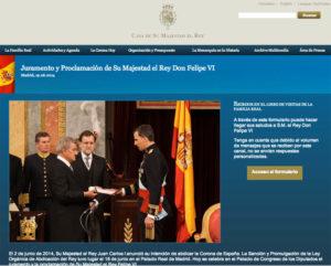 Nueva web de la Casa Real.