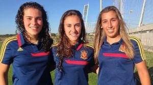 Leire Baños, Nahikari García y María Díaz, algunas de las subcampeonas de Europa sub-19.