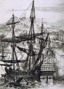 Un galeón español pintado por Alberto Durero. / Foto: wikipedia.