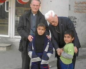 El padre Ángel y padre José Vicente de Mensajeros de la Paz en Gaza. / Foto: Mensajeros de la Paz