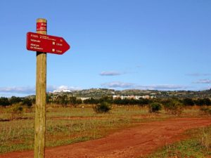 Señalización hacía una red de caminos de España