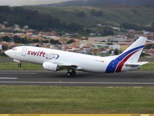 Un avión de la compañía SwiftAir.