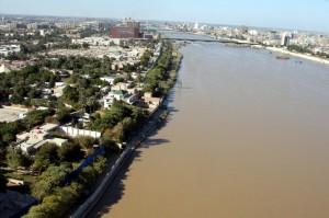 Río Tigris a su paso por Bagdad.
