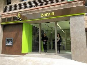 Una de las oficinas de Bankia.