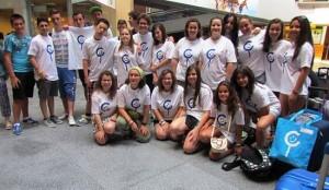 En la imagen, algunos de los jóvenes que participan en el encuentro.
