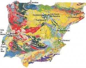 Mapa de las Icnitas de la Península Ibérica. / Foto: http://icnitasdinosaurio.mcu.es/