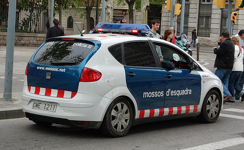 Los Mossos d'Esquadra.