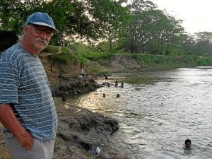 García en el río Coco, entre Nicaragua y Honduras, donde se asienta el pueblo miskito.