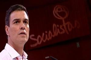 Pedro Sánchez en un momento de su intervención. / Foto: Europa Press