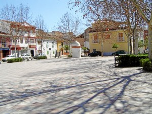 Famosa plaza de la constitución del municipio Granadino