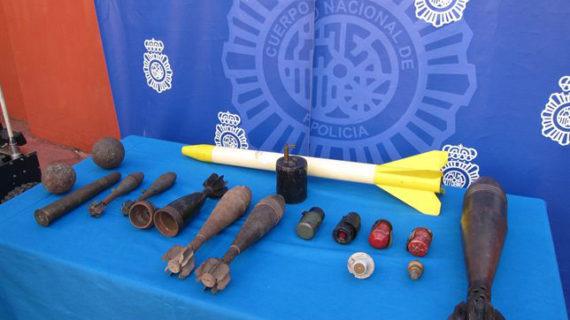Hallados dos explosivos de la Guerra Civil en un domicilio de Don Benito, en Badajoz