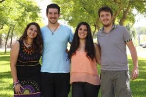En la imagen, los promotores del proyecto.