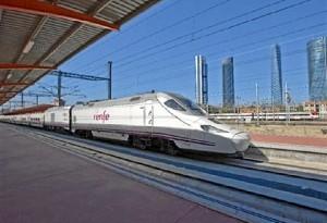 Uno de los trenes de Renfe.