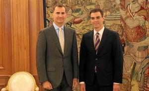 Primer encuentro entre el Rey Felipe VI y el nuevo secretario general del PSOE. / Foto: Casa Real.