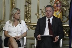 El ministro de Justicia, Alberto Ruiz-Gallardón, presentando el Estatuto.