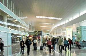 Aeropuerto español en pleno tránsito
