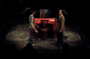 Como actor en 'La última cena', de Ignacio Amestoy.