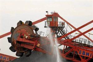 Maquinaria perteneciente a la industria minera
