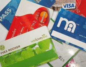 Conjunto de tarjetas de crédito