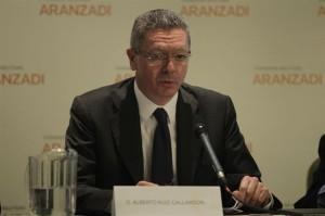 El ministro Alberto Ruiz Gallardón en rueda de prensa. / Foto: Europa Press
