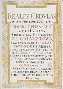 Cédula por la que se concede el título de conde de Gálvez al malagueño. / Biblioteca Nacional.
