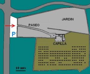 Distribución general del cementerio militar.