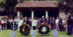 Inauguración del cementerio el 1 de junio de 1983.